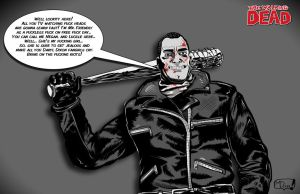 Negan - The WALKING Dead commission by MartinDunn