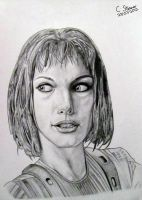 The Fifth Element - Leeloo Drawing by LethalChris