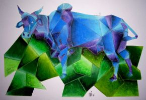 Cubed Cow by KillerGraphix79