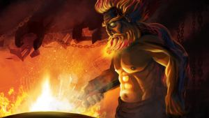 Fire Giant Blacksmith by orogion