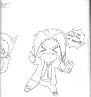 Edward Elric Chibi pencil by ShennyX