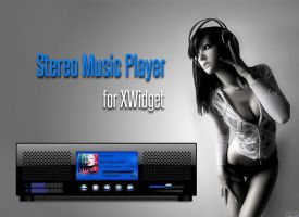Stereo Music Player for xwidget (animated) by jimking