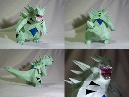 Papercraft Tyranitar by Polar-Dragon