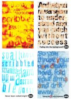 Expressive Type - Postcards by hayleyb28