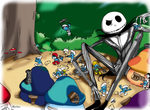 What's this ? [Jack Skellington*Smurfs] by Blychee