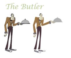The butler by ThreeEyesWorm