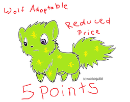 Wolf Adoptable 5 Points CLOSED by emberstar13