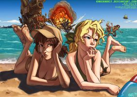 Metal Slug Beach Party by Knockwurst