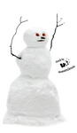 Cut-out stock PNG 63 - creepy snowman by Momotte2stocks