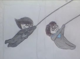 Swift and Nightwing by XLR8OR1344