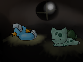 PMD: Mudkip and Bulbasaur by Moonblizzard