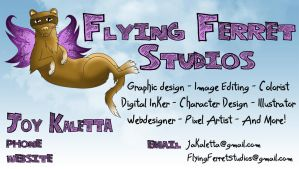 Flying Ferret Studios Business Card by TheFlyinFerret