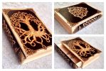 Pyrography book box by VoodooDollyArtwork