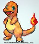 Pokemon Charmander Perler Bead by kamikazekeeg