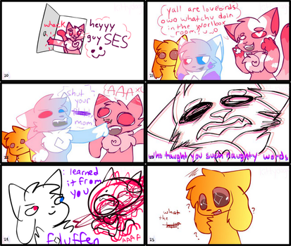 kittydog story panels 20-25 by KittydogCrystal