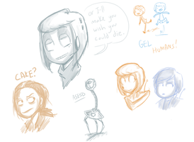 Portal 2 Doodles by Super-Cute