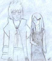Minato and Kushina by DragonQueenRamoth