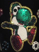 Green Yoshi Hand Embroidery by shiny-latios01