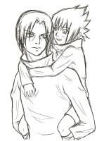 Sasuke and Itachi sketch by Olifaciy