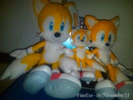 My Tails plush colection n_n by SilverAlchemist09