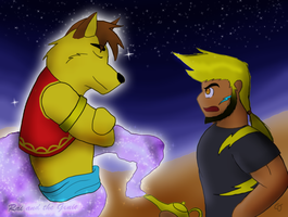 Request by TheTechWilliams - Rai and the Genie by AuldMisdione