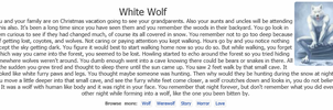 the whie werewolf story by wolfofdeth