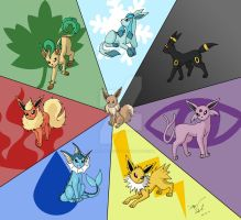 Eevee Evolution by charryblossom