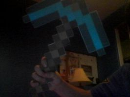 Minecraft Pickaxe! by Tigereagle