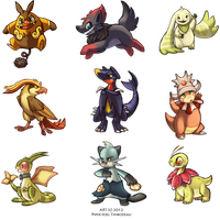 Pokemon Minis by Cryptid-Creations