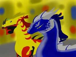 Dragon Booster RP OCs: Day-Race Flicker and Mega by BlackDragon-Studios