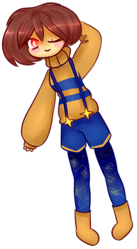 Outertale Chara by DarkPinkMonster