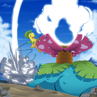 Venusaur VS Bayleef by blue1style