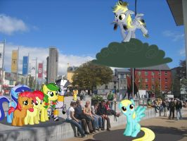 Ponies at Eyre Square by laopokia