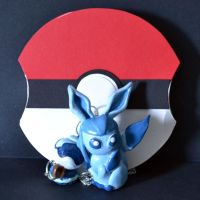 Glaceon Necklace and Pokeball by Loreleiwave
