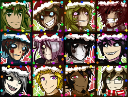 FNAF 3 Christmas Icons by Wolf-con-f