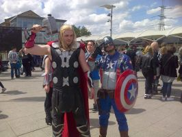 Thor and Captain America - London MCM May by Froodals