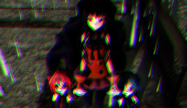 [MMD] SeeU, Miku and Teto- I=NIGHTMARE by KasaneCandy778