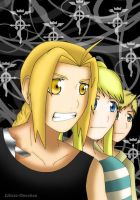 :.:FMA:Just the three of us:.: by Lilicia-Onechan