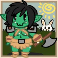 Chibi orc avatar by Drunkfu