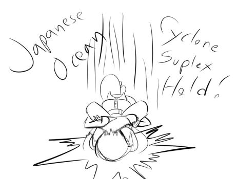 Japanese Ocean Cyclone Suplex Hold by MajorMoonie