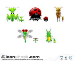 Bugs Icon Set by Iconshock