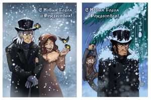 LesMis-NY-sketch-cards by Dasha-KO