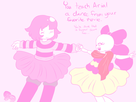UT: Frisk Teaches Arial to dance by AD-SD-ChibiGirl