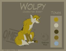 Wolpy - OLDER  Character Sheet by Skailla
