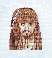 Jack Sparrow X-stitches by DreamsCatchMe