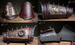Steampunk bracer Set by Aetherwerk