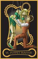 Steampunk tarot of the Lovers by flamarahalvorsen