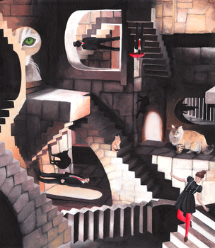 Escher Stairs by kitkat93