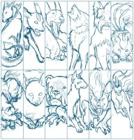 2012 Pokemon bookmarks -WIP- by The-Manticore