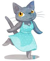 Draw Your Cat in a Dress Day by blackunicorn